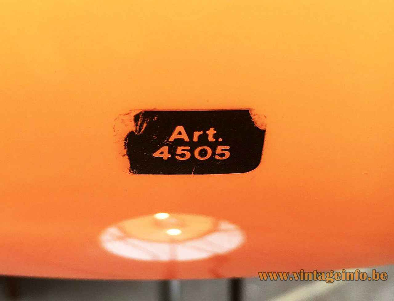 Harveiluce Lucerna floor lamp 1966 design: Harvey Guzzini 4505 black plastic label Italy 1960s 1970s