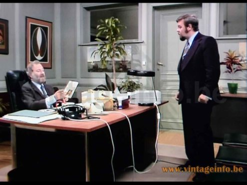 Kaiser Leuchten desk lamp 6658 used as a prop in the 1978 -1981 TV series De Collega's