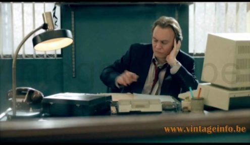 Kaiser Leuchten desk lamp 6857 used as a prop in the 2010 TV series Ashes To Ashes S3E2