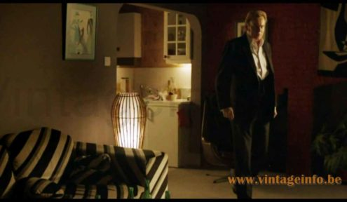 Louis Sognot rattan floor lamp used as a prop in the 2010 TV series Ashes To Ashes S3E7
