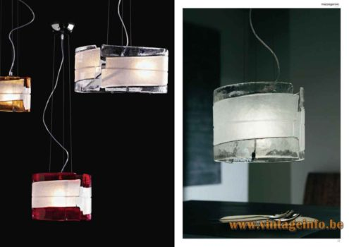 Mazzega 1946 Radius Pendant Lamp - Catalogue Picture