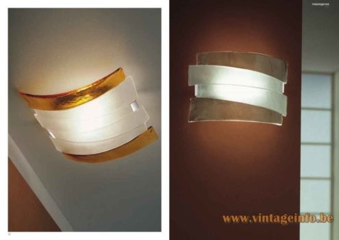 Mazzega 1946 Radius Wall Lamp - Catalogue Picture