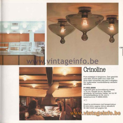 Raak High Chaparral Pendant Lamp - Crinoline Flush Mount - 1982 Catalogue Picture