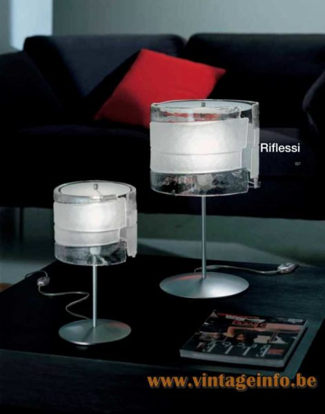 Riflessi Murano Table Lamp - AV Mazzega Catalogue Picture