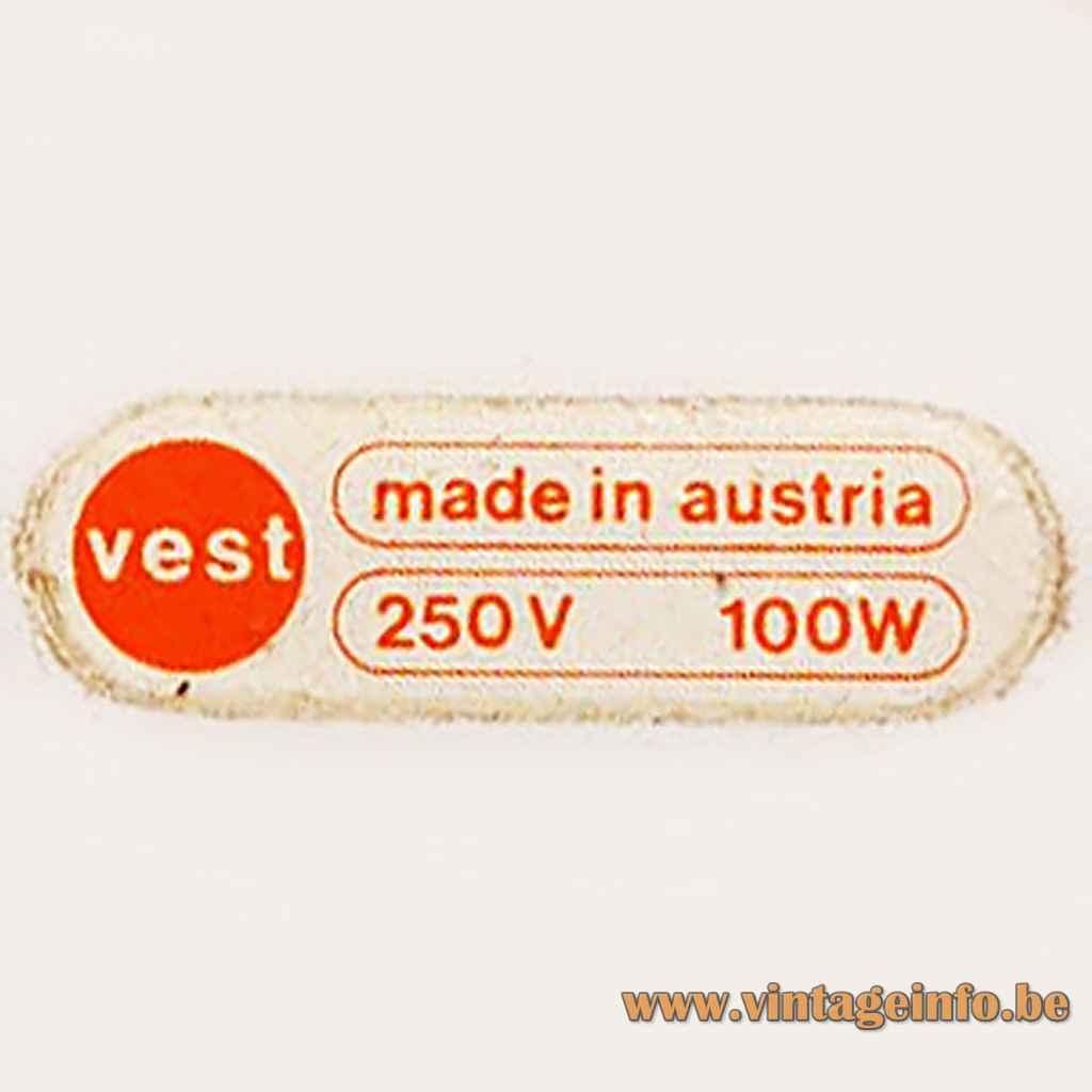VEST Leuchten Austria Label