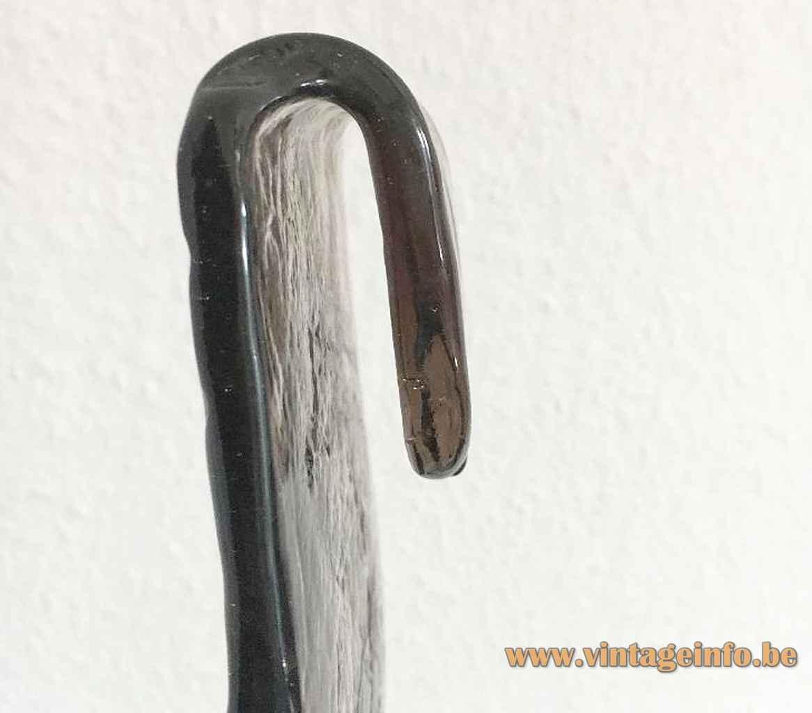 AV Mazzega LS 185 pendant lamp design: Carlo Nason glass hook hanging mechanism Murano Italy