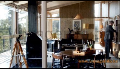 Ateljé Lyktan Anna pendant lamp used as a prop in the 2008 TV series Wallander (S1E1)