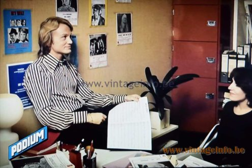 Claude François 1972 - Podium Magazine - Philips Tahiti Table Lamp