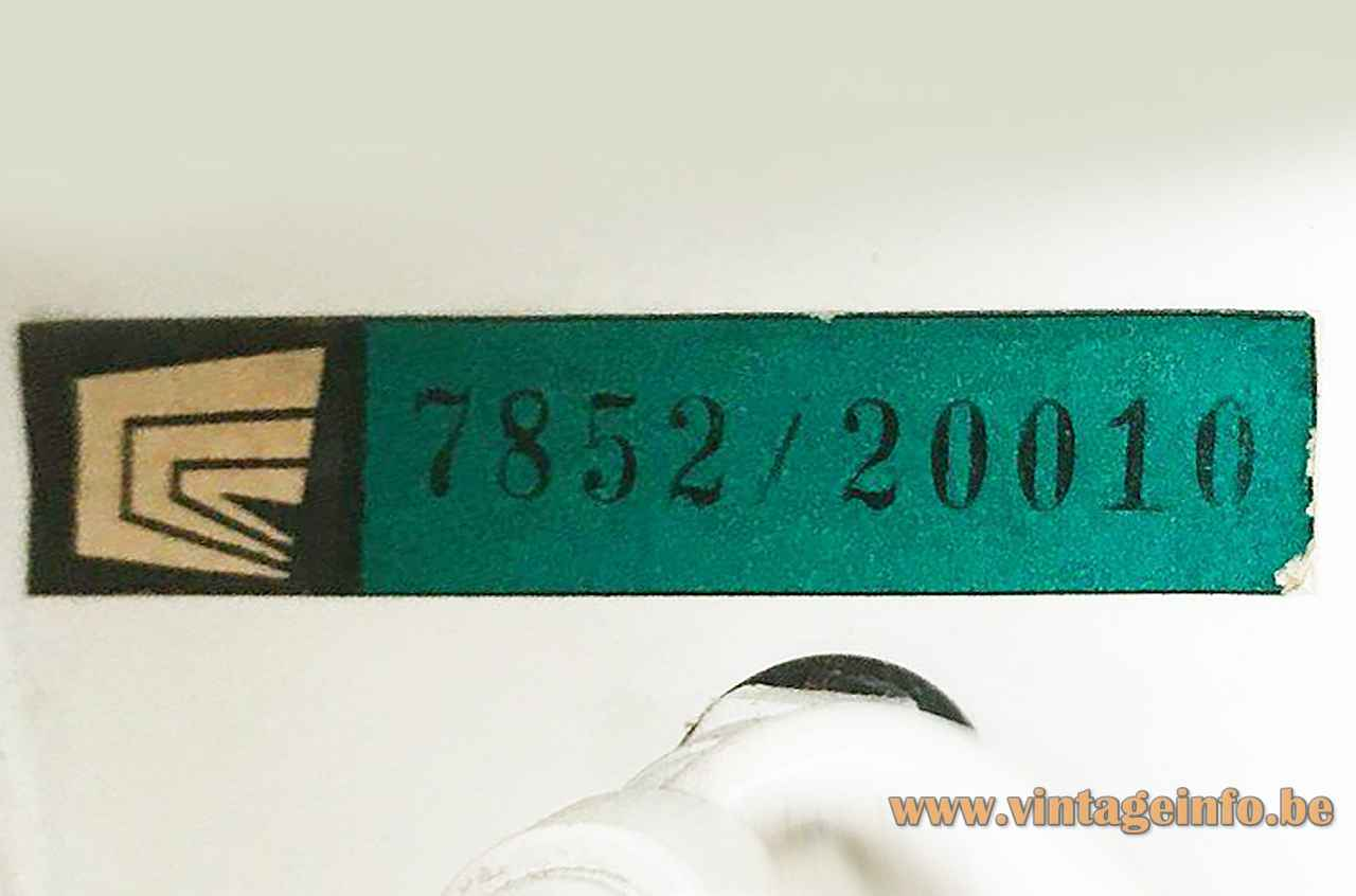 Cosack desk lamp 7852 green & black paper label & logo model 7852/20010 1960s Gebrüder Cosack Gecos Germany