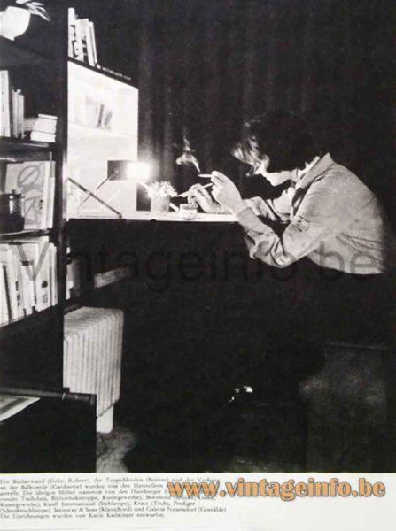 Cosack desk lamp 7852 appears in the German Schöner Wohnen magazine October 1963
