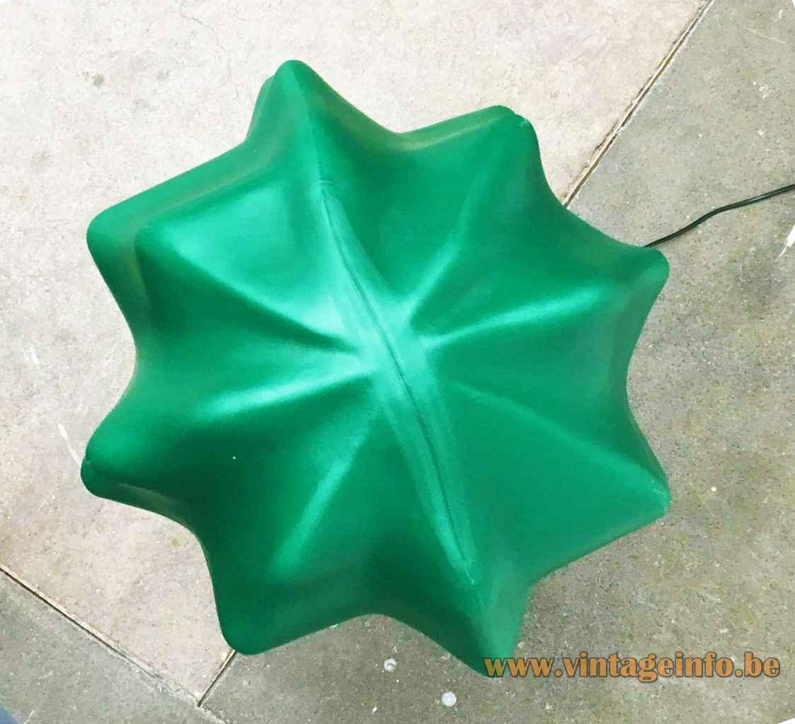 Flötotto Sucu cactus floor lamp elongated green plastic lampshades 1990s design: Art Nowo Germany E14 sockets