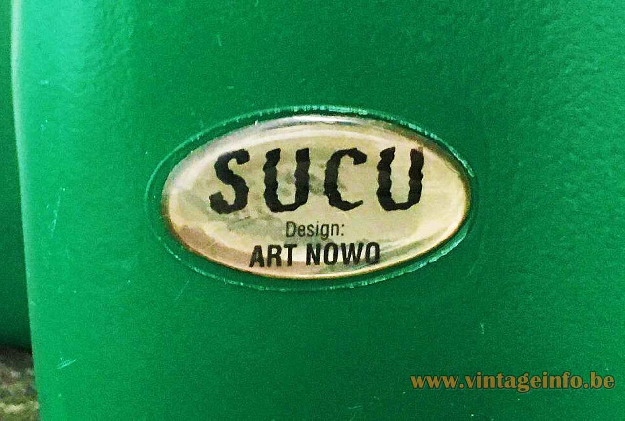 Flötotto Sucu cactus floor lamp oval label 1990s design: Art Nowo Germany 2000s