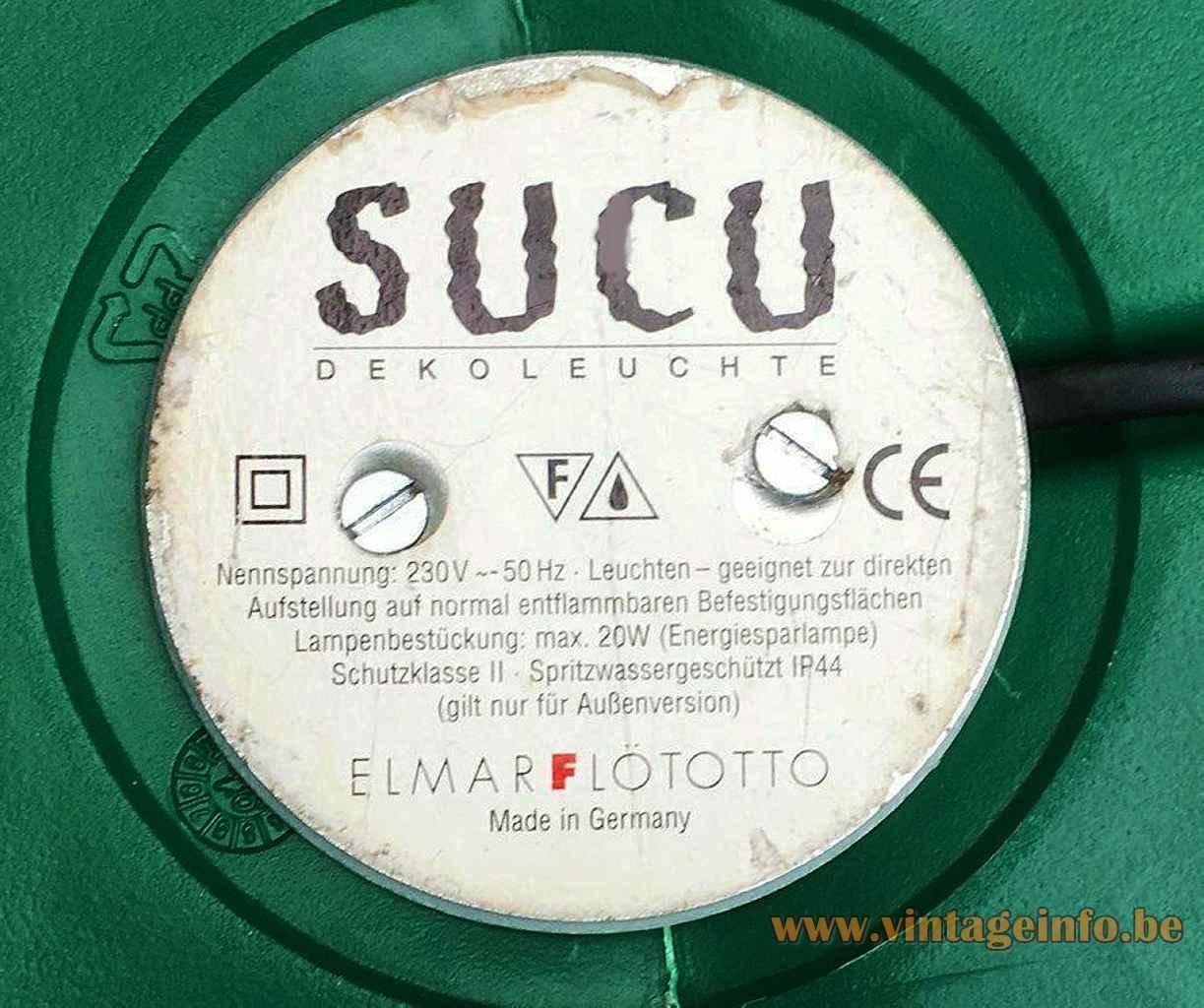 Flötotto Sucu cactus floor lamp round label bottom 1990s design: Art Nowo Germany 2000s