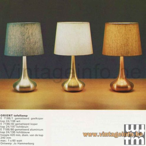 Fog & Mørup Orient Pendant Lamp - Orient Table Lamps - Catalogue Picture