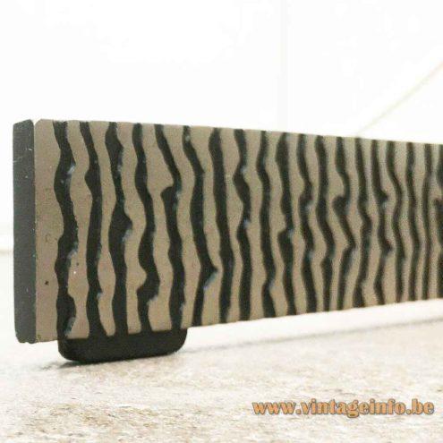 Kaiser Leuchten Fibreglass Floor Lamp - Embossed Metal Base Slat