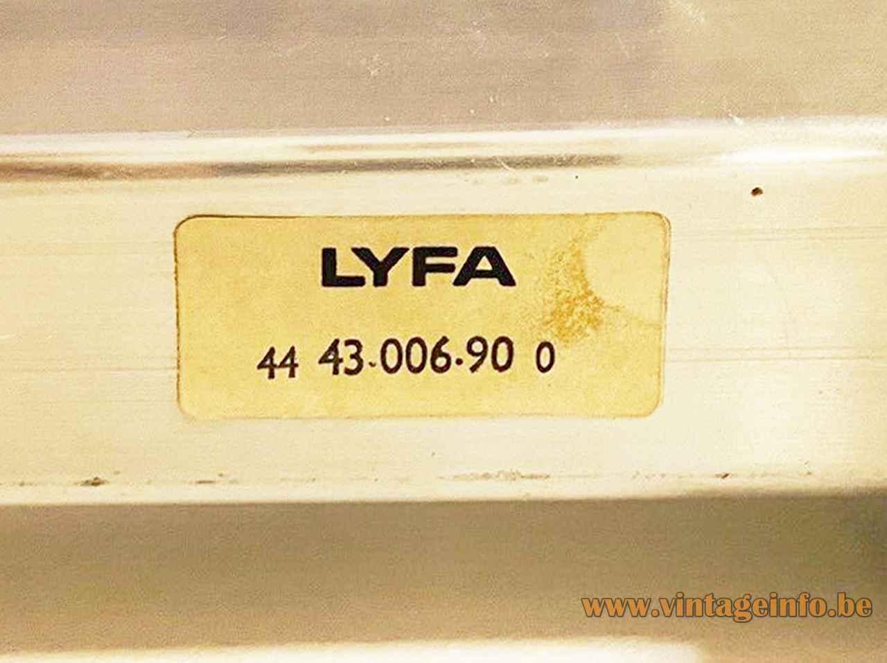 Lyfa Pan-Opticon wall lamp white paper label 1970s design: Bent Karlby Denmark 2 E14 sockets