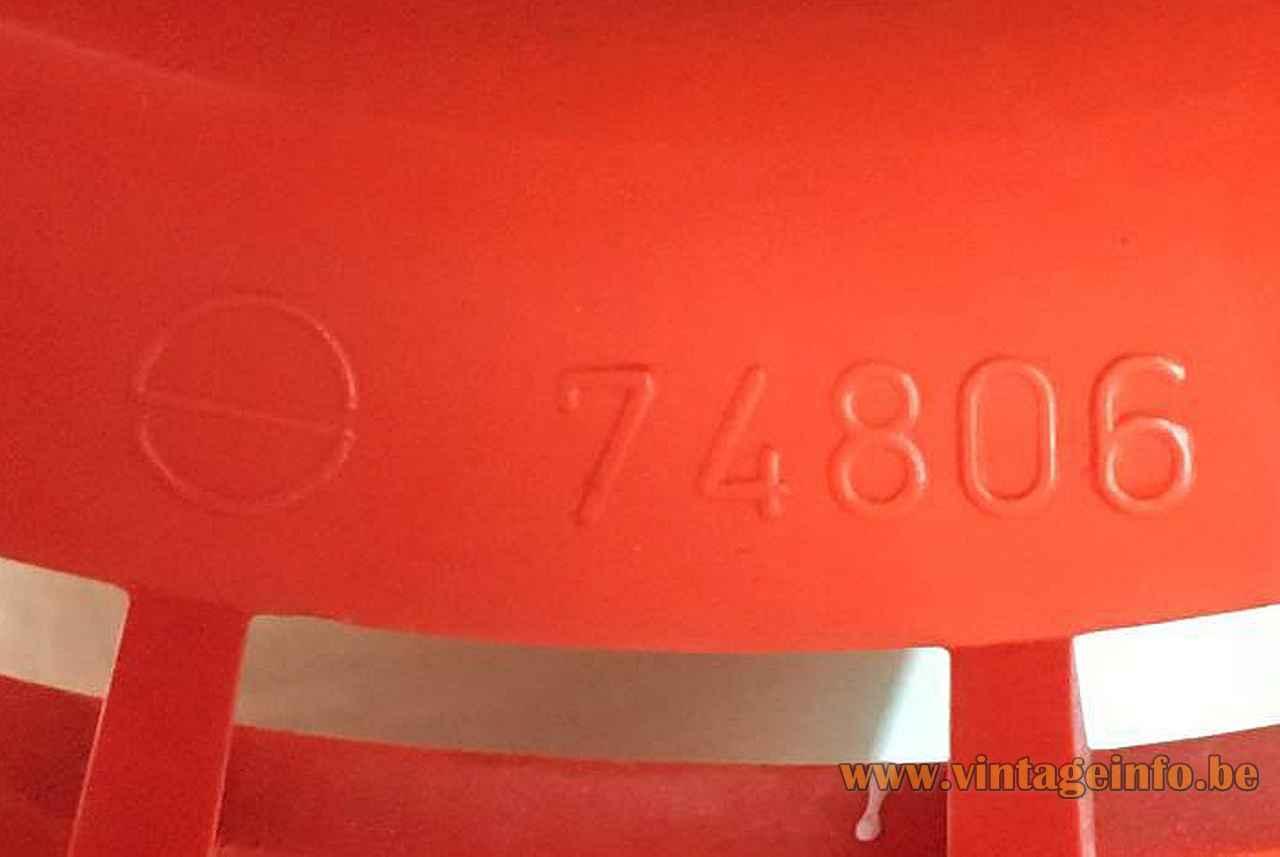 Nordisk Solar Minisol Pendant Lamp pressed S logo + Model 74806 1960s design: K. Kewo, Denmark