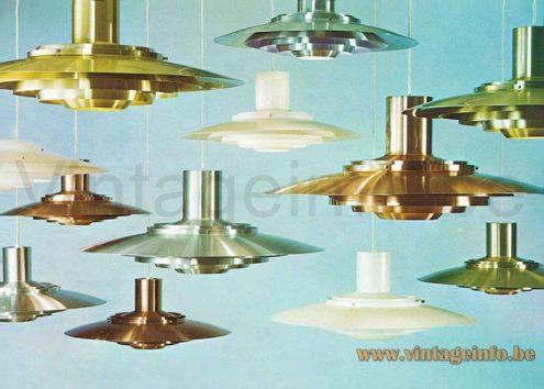 Nordisk Solar Pendant Lamp 376 - 1970s Catalogue Picture - 1964 Design: Jørgen Kastholm & Preben Fabricius, Denmark