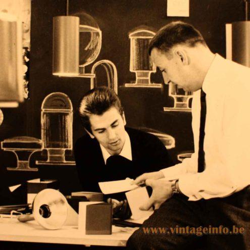Rolf Krüger At Work - 1966 Design Studio Staff Leuchten Germany