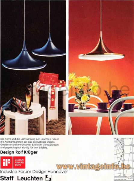 Staff Pendant Lamp 5480, 5482 - Catalogue Picture