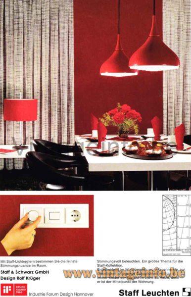 Staff Pendant Lamp 5490 (5491) - Catalogue Picture