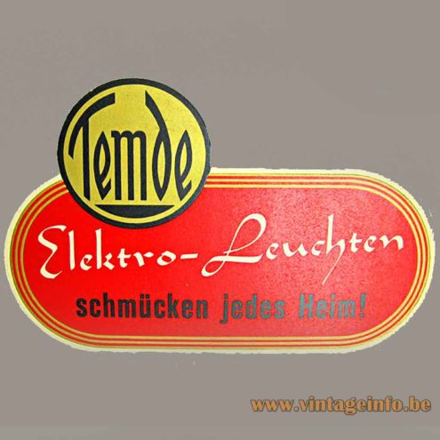 Temde Leuchten label + logo - Schmücken Jedes Heim!
