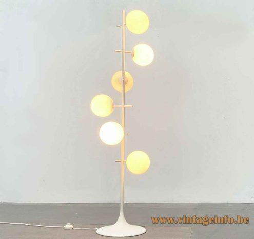 Temde White Globes Floor Lamp - White Metal Version - Design Eva Renée Nele