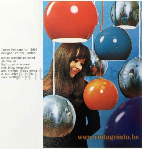 Verner Panton Topan Pendant Lamp - Catalogue Picture