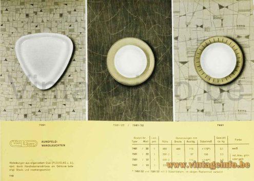 1950s Round Brass Wall Lamp - Trilux Rundfeld-Wandleuchten 1960s Catalogue Picture
