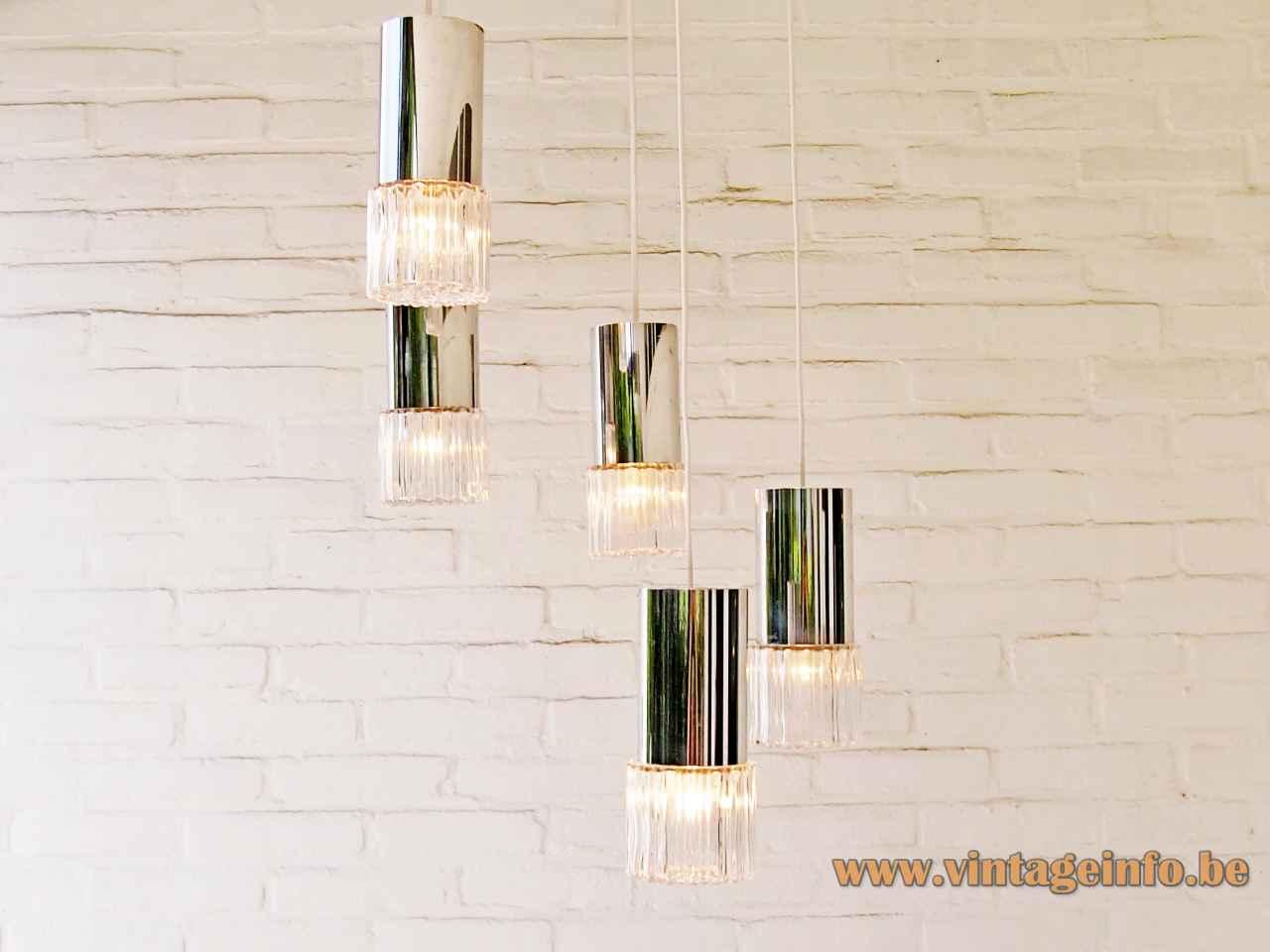 One Vintage Chrome//Glass Wall Light//Sconce 3 pcs avail. KALMAR prob