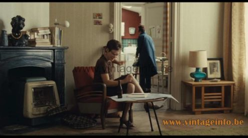 1970s Cosack arc floor lamp desk lamp version used as a prop in the 2009 film Sœur Sourire