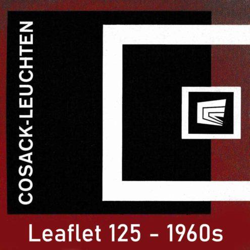 Cosack Leuchten Catalogue Leaflet 125, 1960s cover