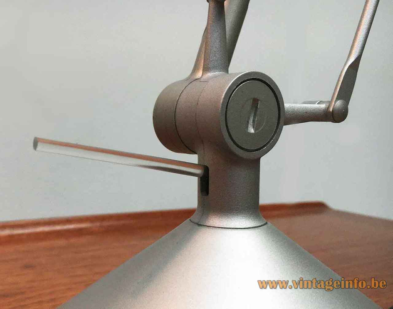 FLOS Archimoon Soft desk lamp grey metal joint & rods Design: Philippe Starck 1990s 2000s Italy