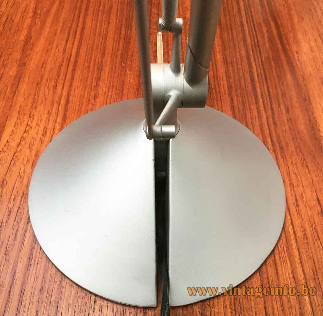 FLOS Archimoon Soft desk lamp concical grey metal base & rods Design: Philippe Starck 1990s 2000s Italy