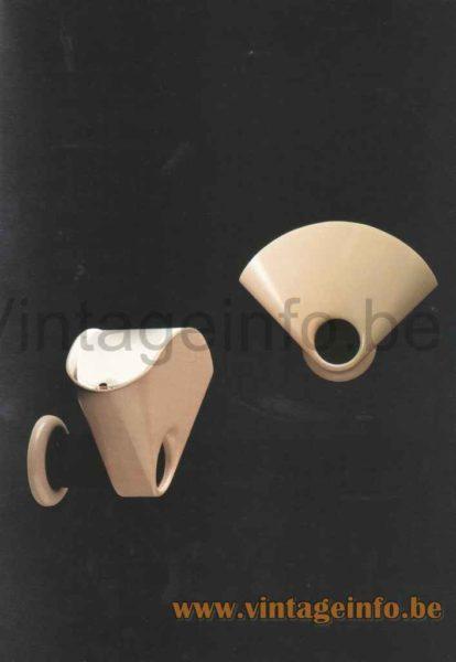 FLOS Bollo Wall Lamp - 1980 Catalogue Picture - Design Tobia Scarpa