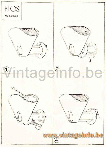 FLOS Bollo Wall Lamp - Instruction Manual