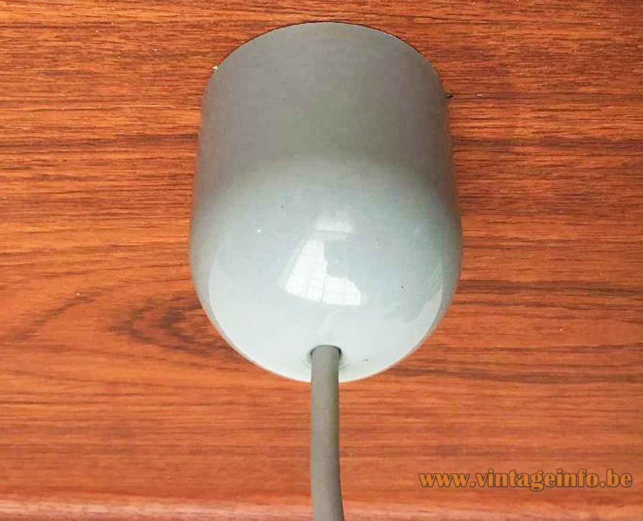 FLOS Light Lite pendant lamp 1991 design Philippe Starck grey plastic canopy Italy