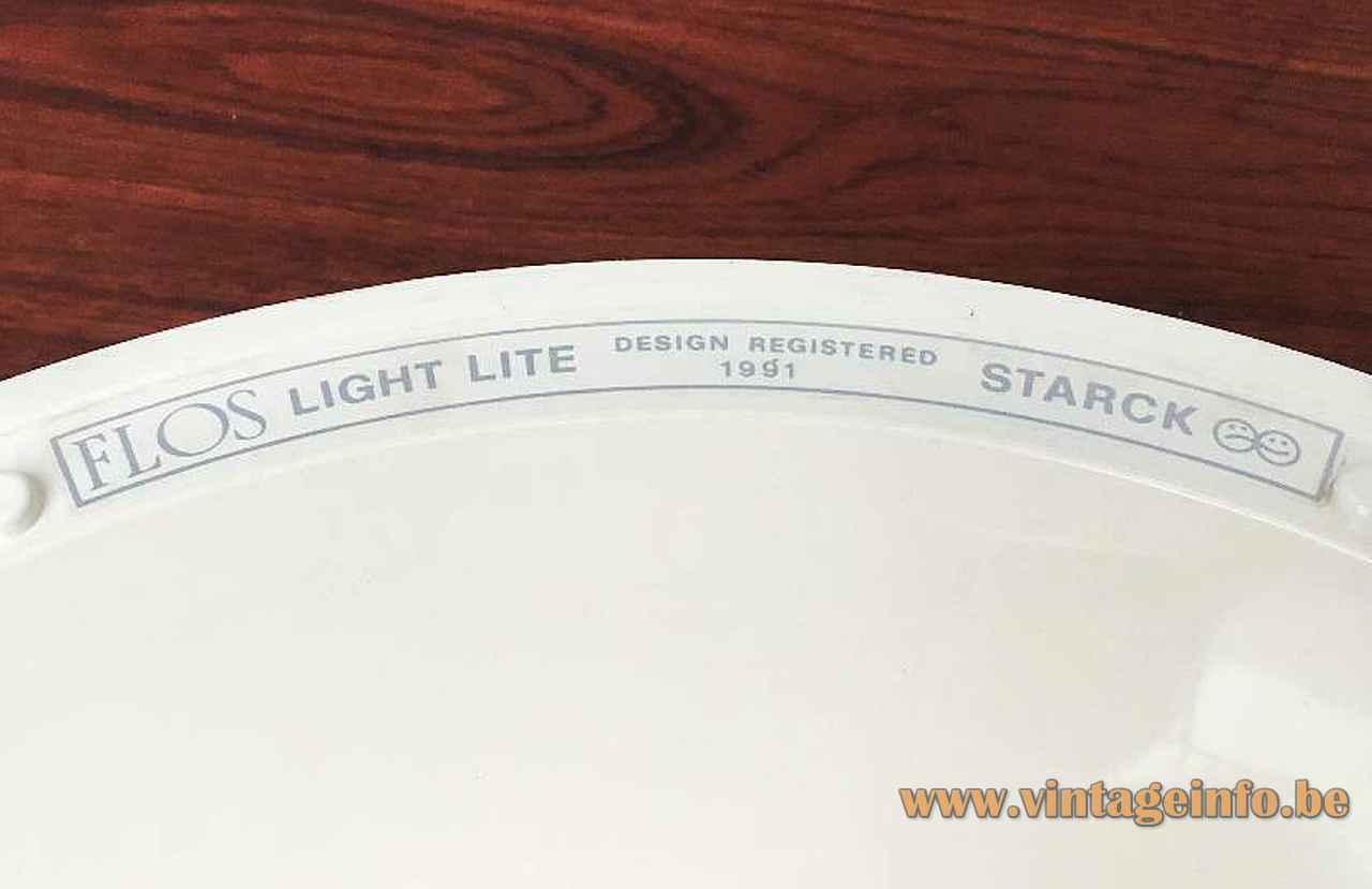 FLOS Light Lite pendant lamp 1991 design Philippe Starck label Italy