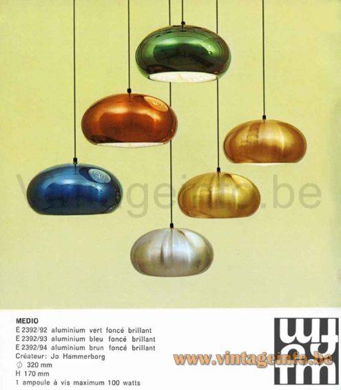Fog & Morup Medio Pendant Lamp - 1960s Catalogue Picture