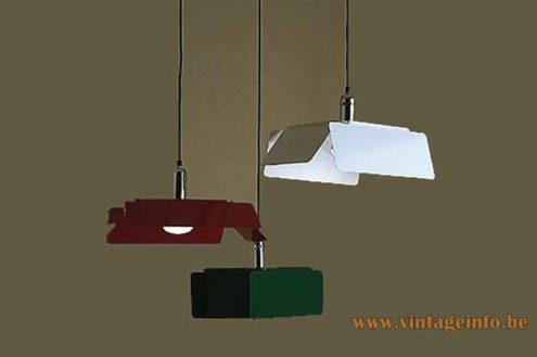 Harvey Guzzini Diaframma Pendant Lamp - 1974 Catalogue Picture