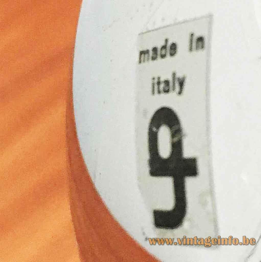 Harvey Guzzini Diaframma pendant lamp design: Fabio Lenci label iGuzzini Italy model 7064 1970s