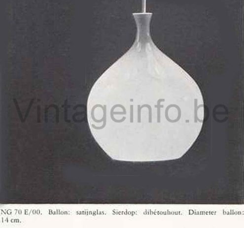 Helge Zimdal Löken Pendant Lamp - 1960s Philips Catalogue Photo