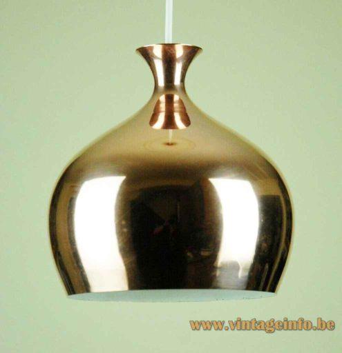Helge Zimdal Löken Pendant Lamp - Brass Version, 1960s, Falkenbergs Belysning, Sweden