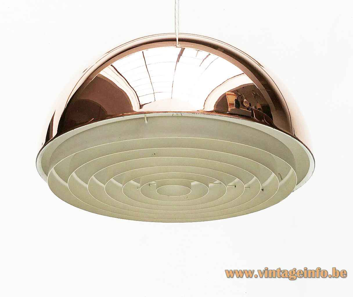 Louis Poulsen Louisiana pendant lamp copper half round lampshade 1960s design: Vilhelm Wohlert Jørgen Bo Denmark