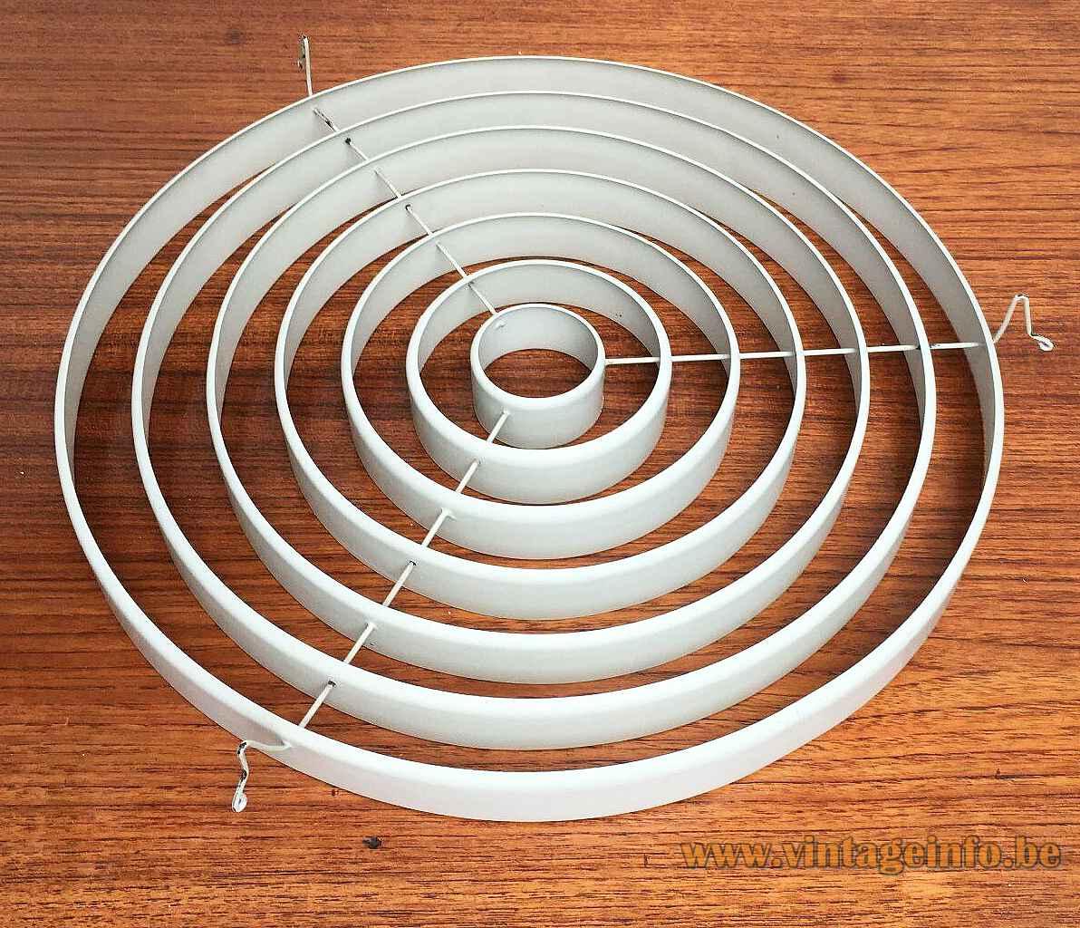 Louis Poulsen Louisiana pendant lamp round metal grid diffuser 1960s design: Vilhelm Wohlert Jørgen Bo Denmark