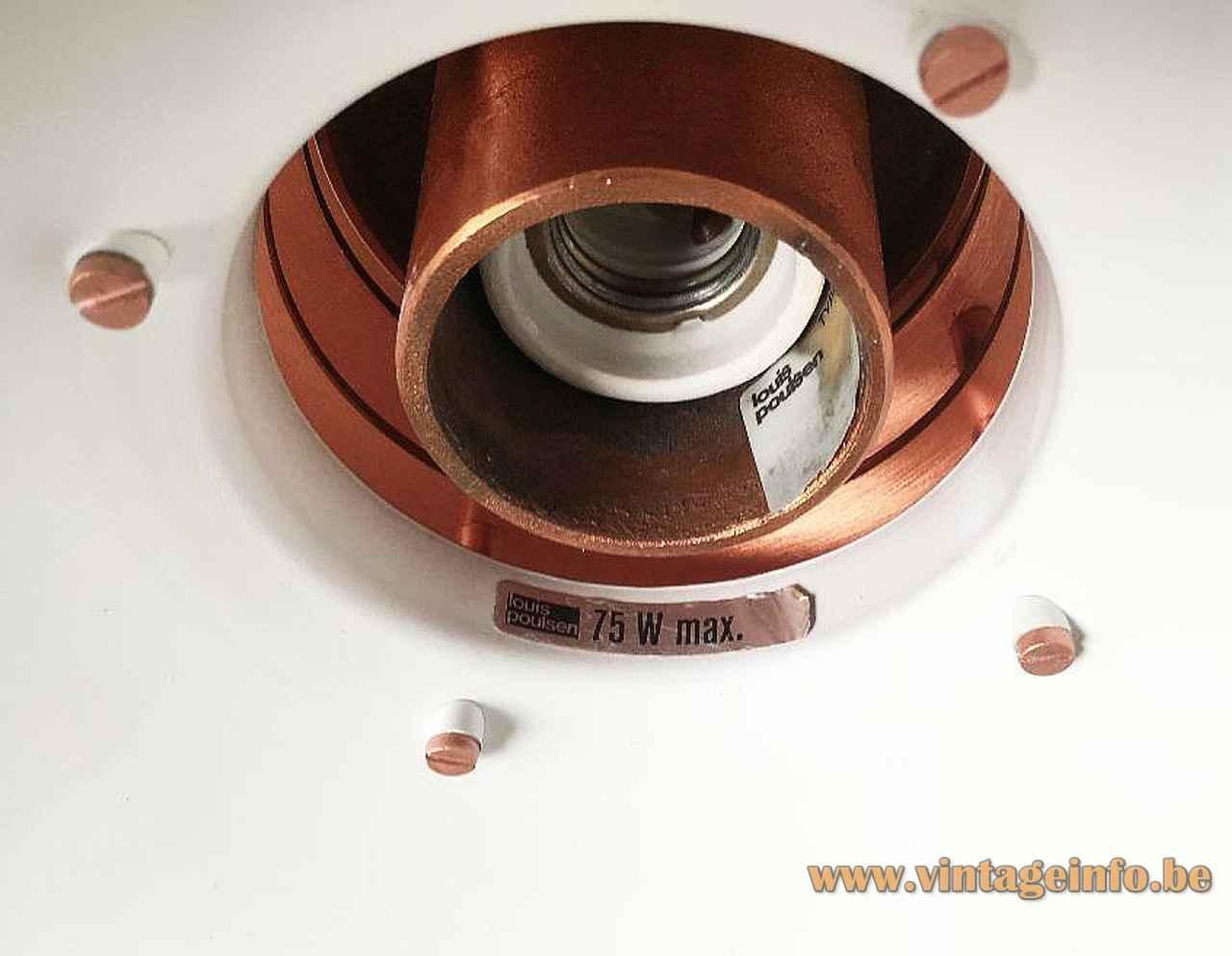 Louis Poulsen Nyhavn pendant lamp design: Alfred Homann label logo 75 watt maximum E27 socket Denmark 1980s