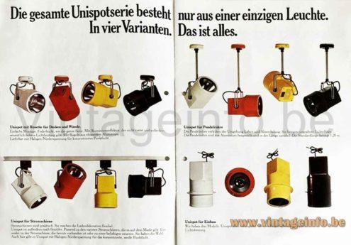 Louis Poulsen Unispot Lamp - Catalogue Picture
