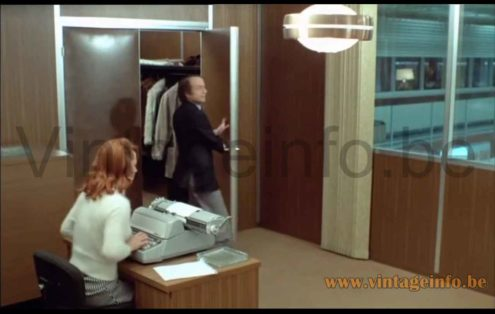 Raak B-1044 pendant lamp used as a prop in the 1973 film Le Grand Bazar