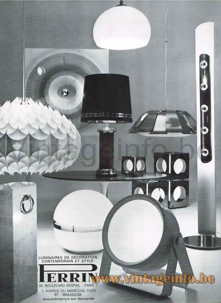 Vest Rhythmik Pendant Lamp - Perrin, France, 1972 Publicity