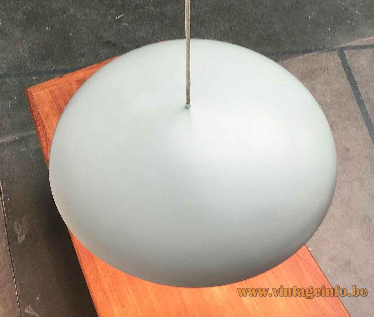 Louis Poulsen California pendant lamp disc lampshade round top view design: Vilhelm Wohlert & Jørgen Bo 1960s
